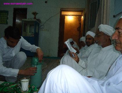 مراسم مولودخوانی بمناسبت میلاد رسول الله (ص) در مدرسه اسماعیلیه