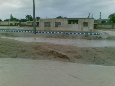 بارندگی شدید و تگرگ در گیاهدان و روستاهای قشم