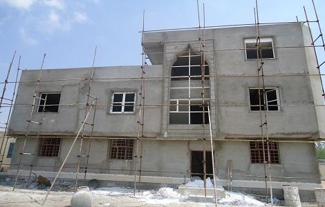مراحل پایانی ساخت ساختمان اداری آموزشی مدرسه اسماعیلیه
