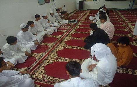 برگزاری مراسم مولودخوانی در مدرسه اسماعیلیه