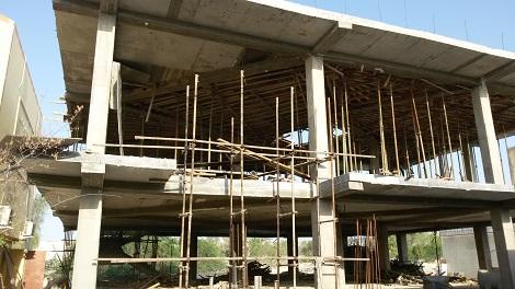 تکمیل مرحله اسکلت پروژه مسجد و شعبه حفظ مدرسه اسماعیلیه