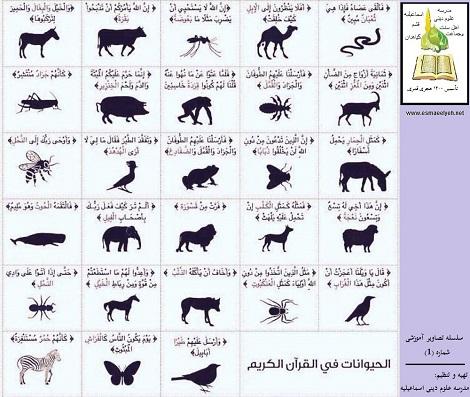 اسامی حیوانات در قرآن