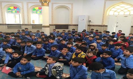 محفل قرآنی دانش آموزان دبستان شیخان گیاهدان با حضور شیخ محمد تشیخ