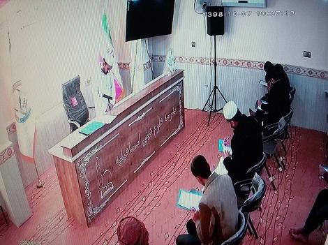 گزارش تصویری برگزاری امتحانات نیمسال مدرسه علوم دینی اسماعیلیه